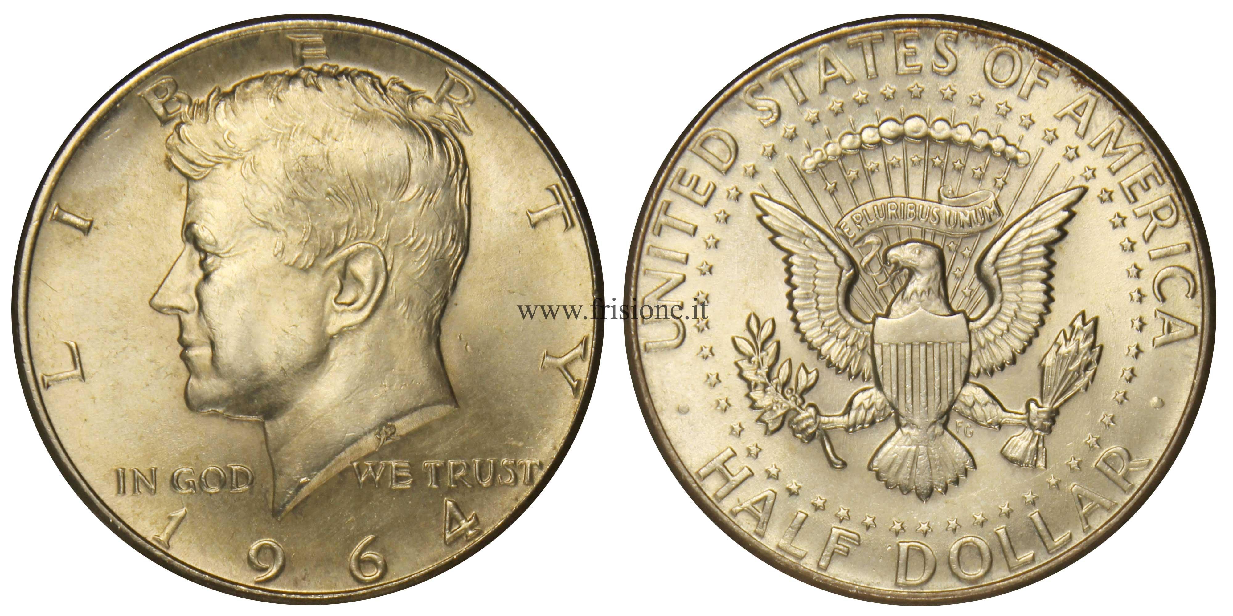 81abb666e5 Mezzo dollaro Stati Uniti del 1964 Kennedy in argento