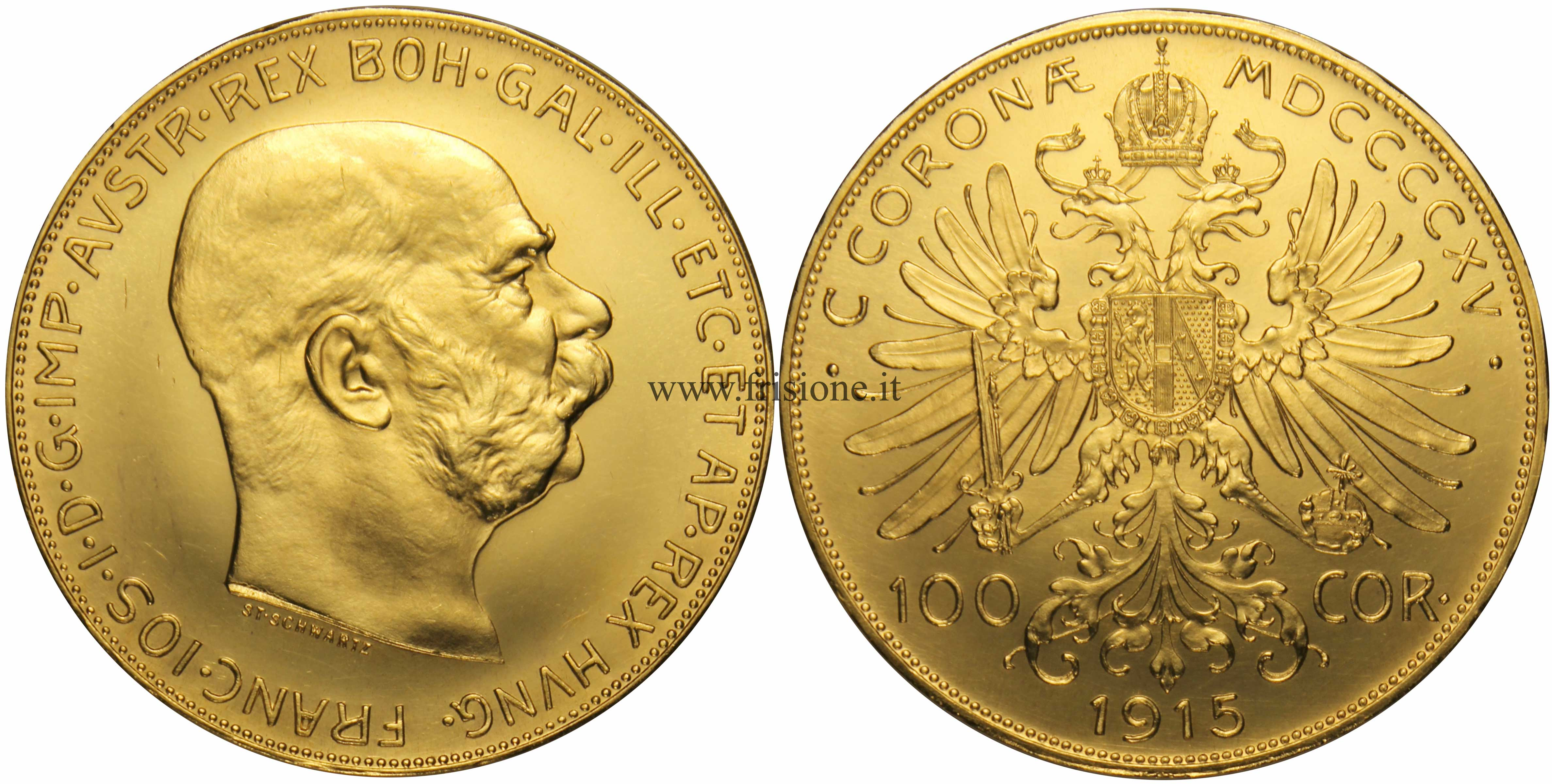 Austria 100 corone 1915 - Sterlina oro 2017 fondo specchio ...